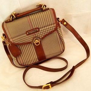 Polo Ralph Lauren Vintage Plaid Leather Bag